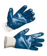 Перчатки нитриловые на манжете резинка полный облив