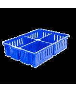Ящик пластиковый 4-х секционный для транспортировки суточных цыплят 700х500х150
